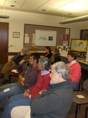 Participants at a Peace Corps forum at the Saratoga Springs Public Library