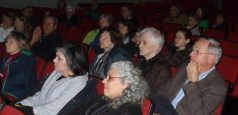 Crowd gathered to watch a screening of Once in Afghanistan in Chatham, New York