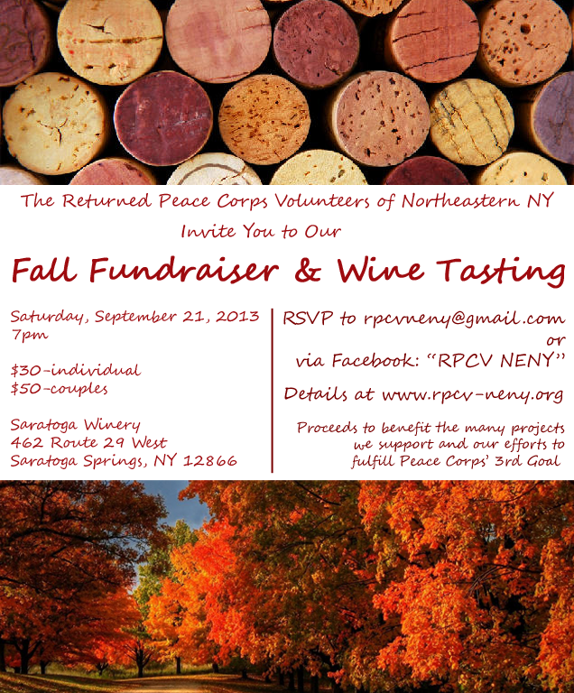 This Saturday: Fall Fundraiser & Wine Tasting