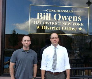 Scollin and Cresswell at Rep. Bill Owens' Glens Falls Office