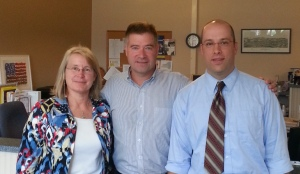 Becky Raymond & Eliot Cresswell with Rep. Chris Gibson (NY-19)