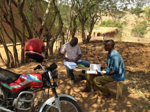 Conducting one of the surveys of HIV-related NGOs