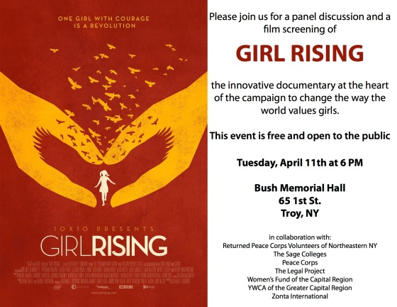Girl Rising poster for April viewing